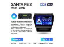"""Магнитола Teyes CC2 Plus 4-64 Hyundai Santa Fe 3 2013-2016 9.0"""""""