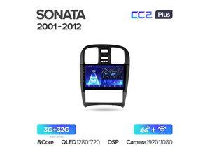Магнитола Teyes CC2 Plus 3-32 Hyundai Sonata EF рестайлинг 2001-2012 9.0